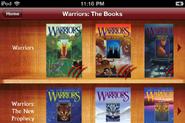 Warriors App.Bücherregal