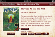 Warriors App.Into the Wild
