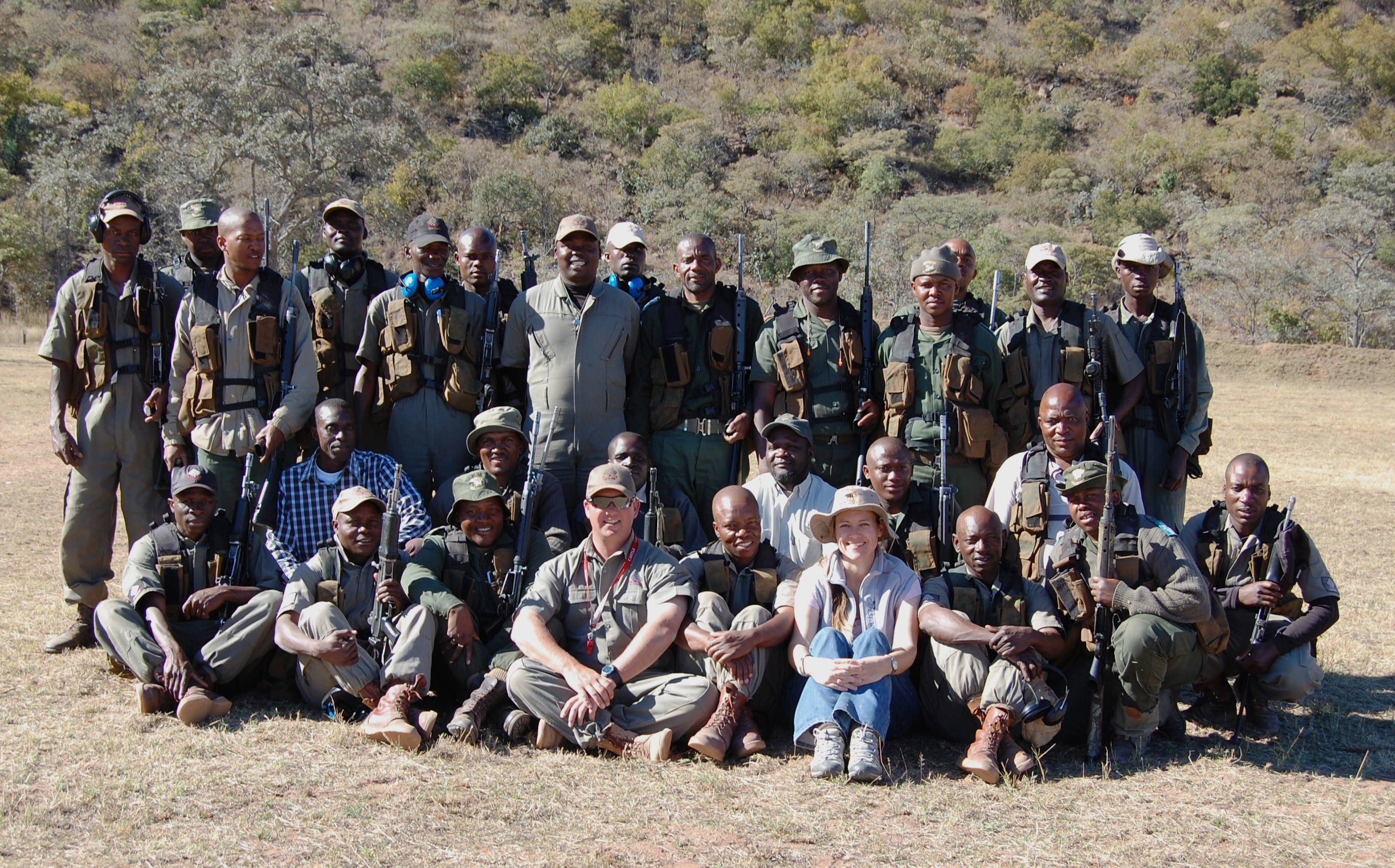 Южно-африканские носороговые рейнджеры