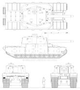 Type 2605 heavy tank by giganaut-daiouxg