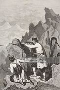 Montenegrin soldiers in action, Montenegro, life drawing by Theodore Valerio (1819-1879), from Montenegro, by Charles Yriarte (1832-1898)