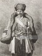 Senator from Montenegro, life drawing by Theodore Valerio (1819-1879), from Montenegro, by Charles Yriarte (1832-1898