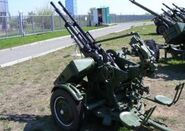 ZPU-2 14-5mm late version anti-aircraft twin guns Russia Russian army defence industry left side view 001