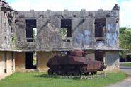 World War II tank on Babelthuap Island, Palau, 2012. Photo- Erin Magee - DFAT (13252789195)