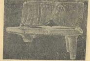 Глиняна модель житла з розкопів на поселенні в с. Володимирівці (1936 р.). Вигляд спереду (1) вигляд збоку (2) (1-3 н. в.)1.