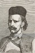 Man of the province of Riethska, Montenegro, life drawing by Theodore Valerio (1819-1879)