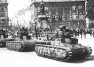 Подбитый танк D1, июнь 1940 г