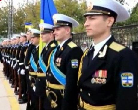 Рота почетного караула ВМС Украины