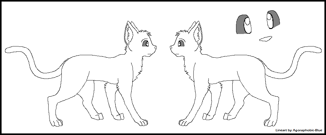 Cat reference sheet lineart by agoraphobic blue-d32dgdw.png