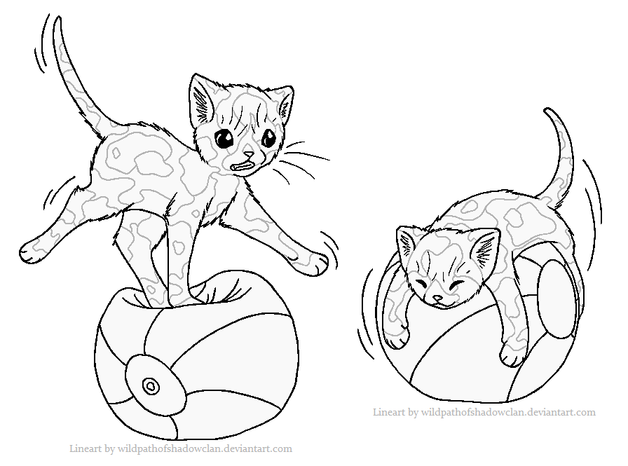 Ball balancing tortie lineart by wildpathofshadowclan-d4dm5sl.png