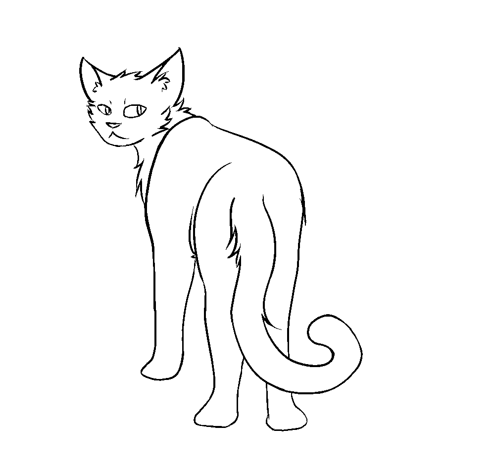 F2u thunderclan warrior cat lineart by codeflsh dcmfwdv.png