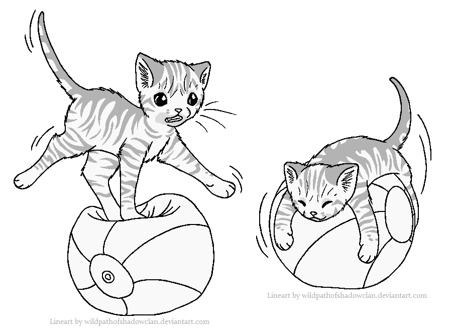 Ball balancing tabby lineart by wildpathofshadowclan-d4dm5om.png