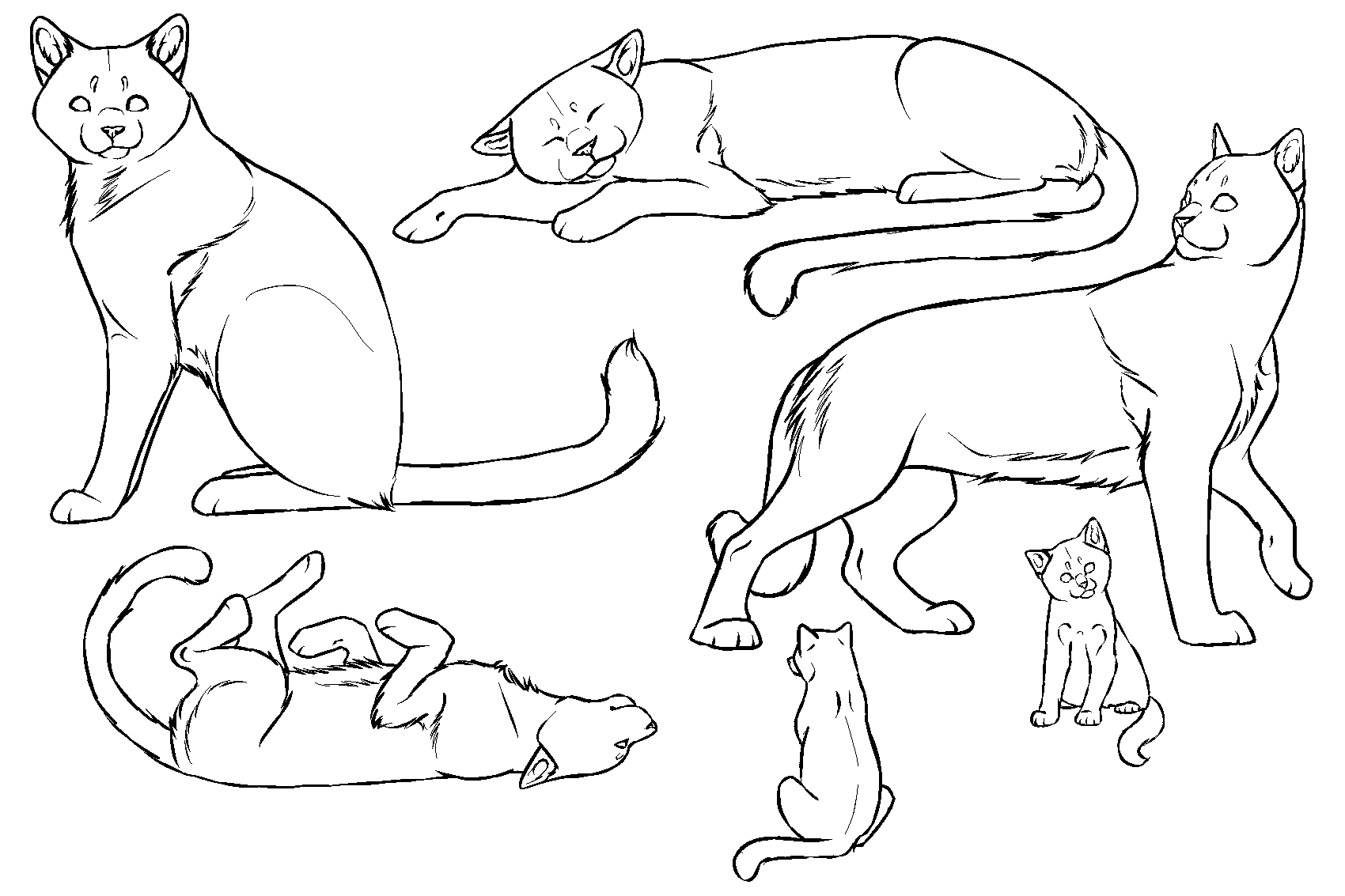 Free cat lineart by dikkebobby-d5043ef.png