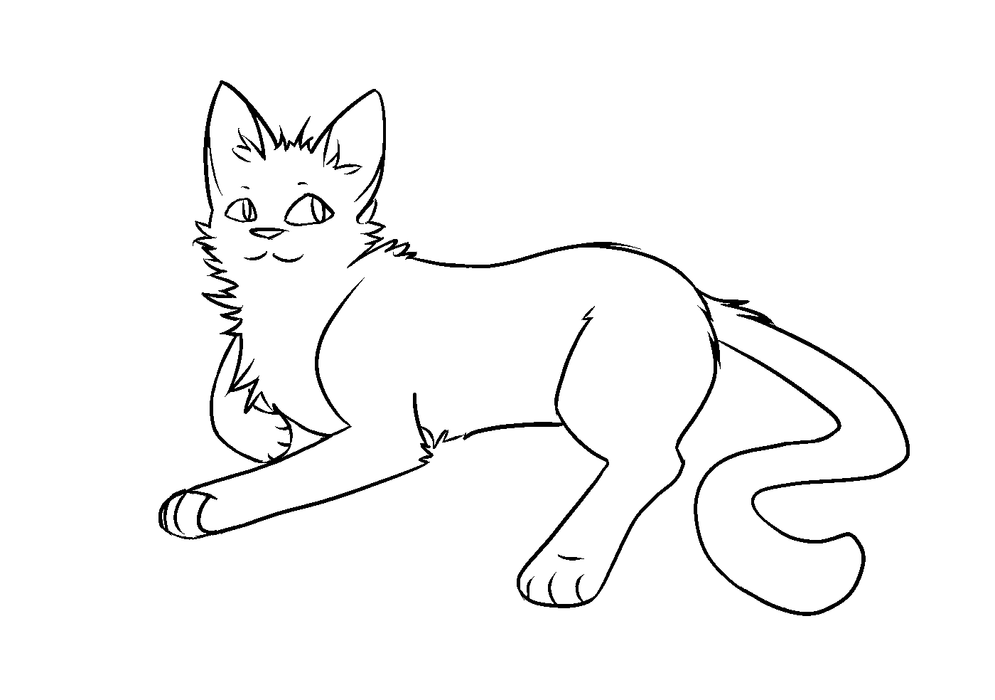 F2u thunderclan apprentice warrior cat lineart by codeflsh dcmgdwp.png