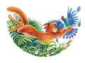 Грозовой воитель ловит голубя