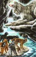 Оруженосцы ищут выход из пещеры, Темная река золото