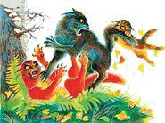 Бурый кусает Маугли Битвы племен