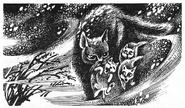 Синегривка несёт котят Пророчество Синей Звезды Выбор