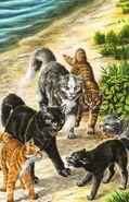 Речные коты берут Остролапку в плен, Темная река золото