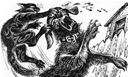 Желудёнок побеждает собаку ОМ Западня