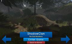ShadowClan load screen.screenshot