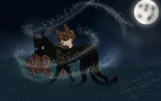Leafpool and crowfeather by 13lexwolf-d3mzdvl.png