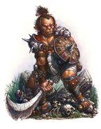 667x850 3271 Ogre 2d fantasy ogre warrior picture image digital art