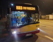 N83 kierunek PKP Piaseczno