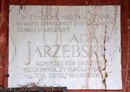 Tablica Adam Jarzębski Plac Zamkowy 15