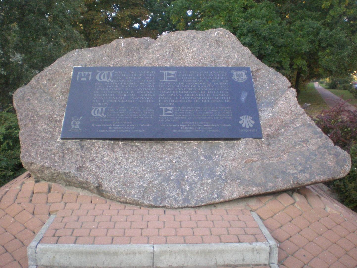 Pomnik pielgrzymki rycerza Andrzeja Ciołka