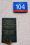 Tablica pamiątkowa ul. Grójecka 104