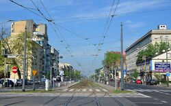 Ulica Grochowska widok z Ronda Wiatraczna.JPG