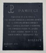 Tablica Aleje Ujazdowskie 28