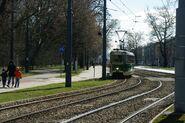 102N linia okolicznościowa E wjazd na pętlę Bielany