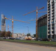 Towarowa, Łucka (Warsaw Spire, budowa)