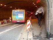 Tunel trasy W-Z (remont 190, marzec 2009)