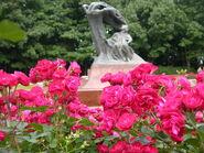 Roze przy Pomniku Chopina