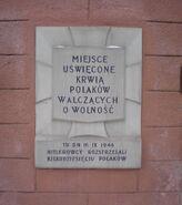 Urząd dzielnicy Wola (aleja Solidarności, nr 90, tablica)