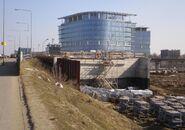 Marynarska, Trasa N-S (budowa)