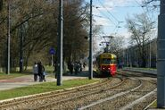 13N linia okolicznościowa E wjazd na pętlę Bielany