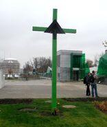Zamoyskiego, Sokola (krzyż przydrożny)