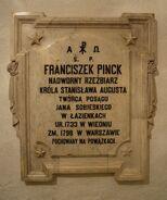 Tablica Franciszek Pinck Katedra św. Jana
