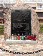 Białostocka, Tarchomińska (kamień pamiątkowy)