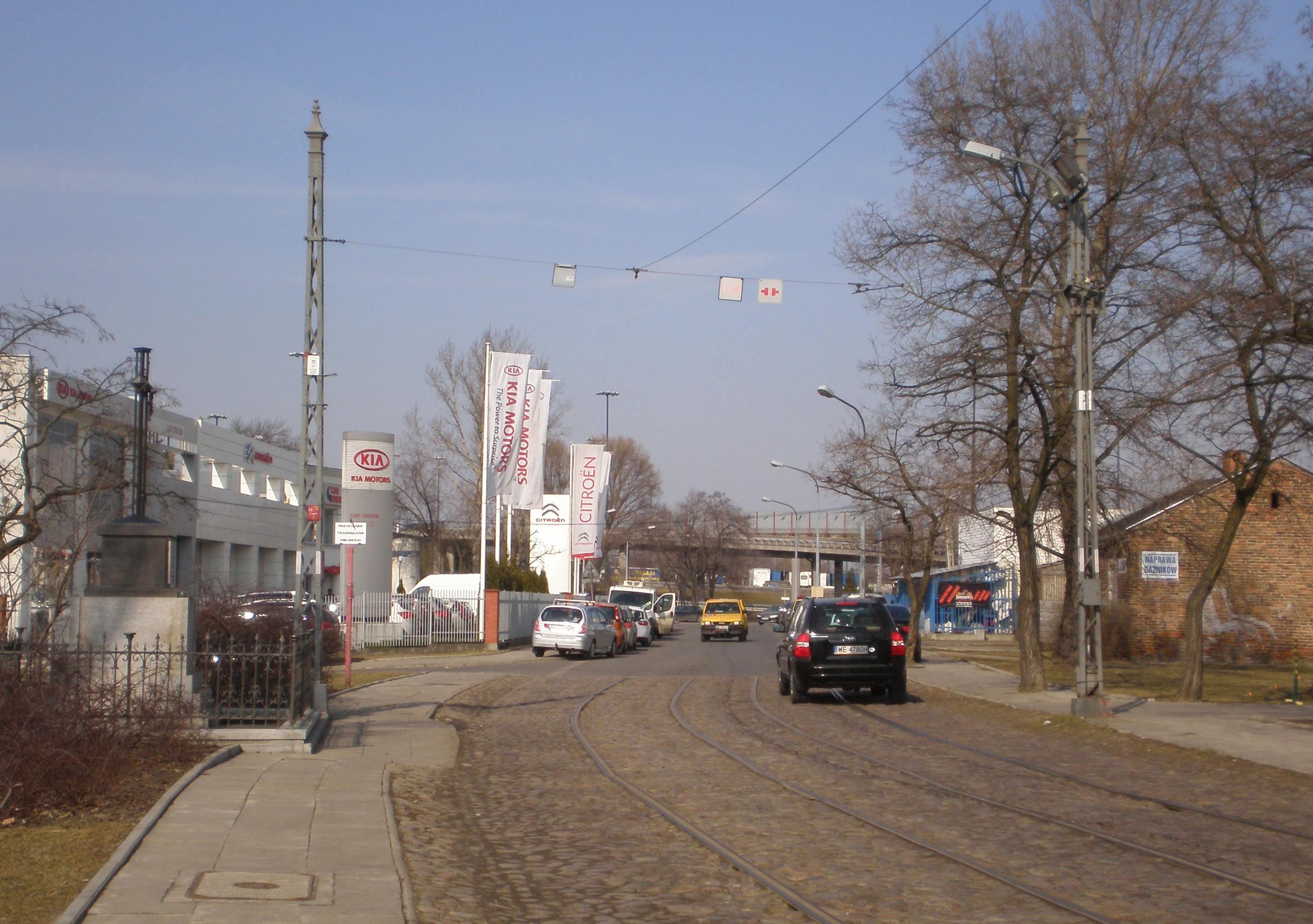 Infrastruktura tramwajowa na Wysockiego