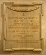 Tablica Marcello Bacciarelli Katedra św. Jana