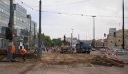 Plac Bankowy (remont torowiska na trasie W-Z)