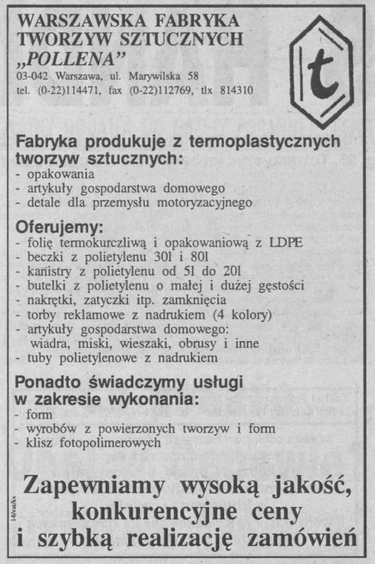 Warszawska Fabryka Tworzyw Sztucznych Pollena