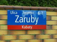 Ulica Zaruby (tabliczka, by BartekBD)