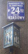 Chocimska (budynek nr 24, stara tabliczka adresowa)