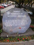 Miodowa (kamień pamiątkowy, batalion Gozdawa)